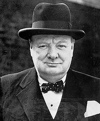 A photo of prime minister winston churchill.