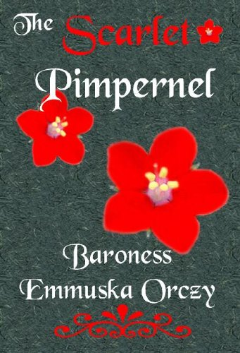 cover with drawn images of a scarlet pimpernel