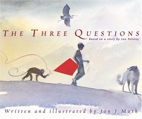 Illustrated Book Cover Questions : Picture books review the three questions