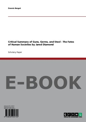 guns germs and steel chapter summaries essay This is a book summary of guns, germs, and steel by jared diamond read this guns, germs, and steel summary to review key ideas and lessons from the book.