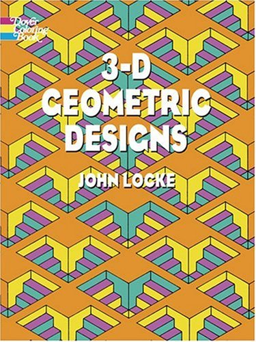 geometric designs for coloring. 3-D Geometric Designs (Dover Coloring