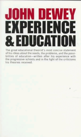 Front Cover of Dewey's Experience and Education (1938).