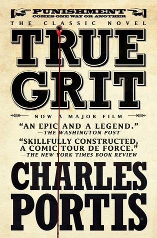 book cover for true grit - movie tie in cover - by charles portis