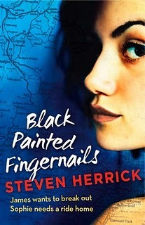 Black Painted Fingernails