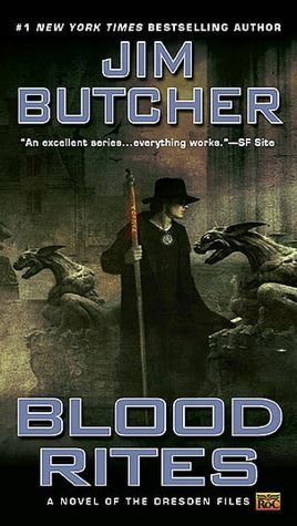 Series Review: Blood Rites (The Dresden Files, Book 6), By Jim Butcher Book Cover Art