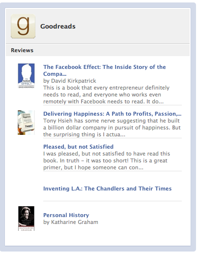 Your Book Reviews from Goodreads on Facebook